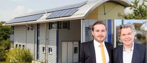 Matthias (l.) und Manfred Fehrenbach führen am zweiten Tag durch ihre Firma EUTECT in Dusslingen